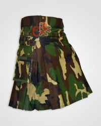 Men Woodland Camouflage Tactical Army Utility Kilt