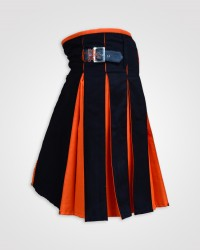 Classic Hybrid Black and Orange Kilt