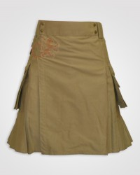 Khaki working Utility kilt
