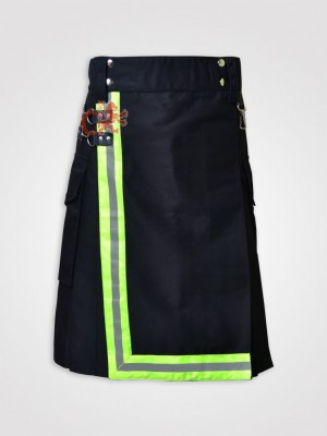 Black Firefighter Utility Working Kilt