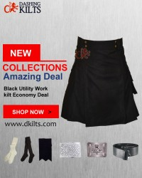 Black Utility Work kilt Economy Deal