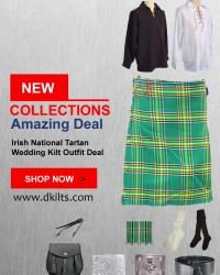 Irish National Tartan Wedding Kilt Outfit Deal