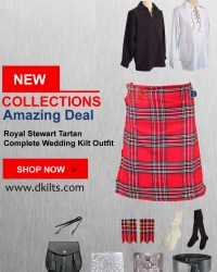Royal Stewart Tartan Complete Wedding Kilt Outfit